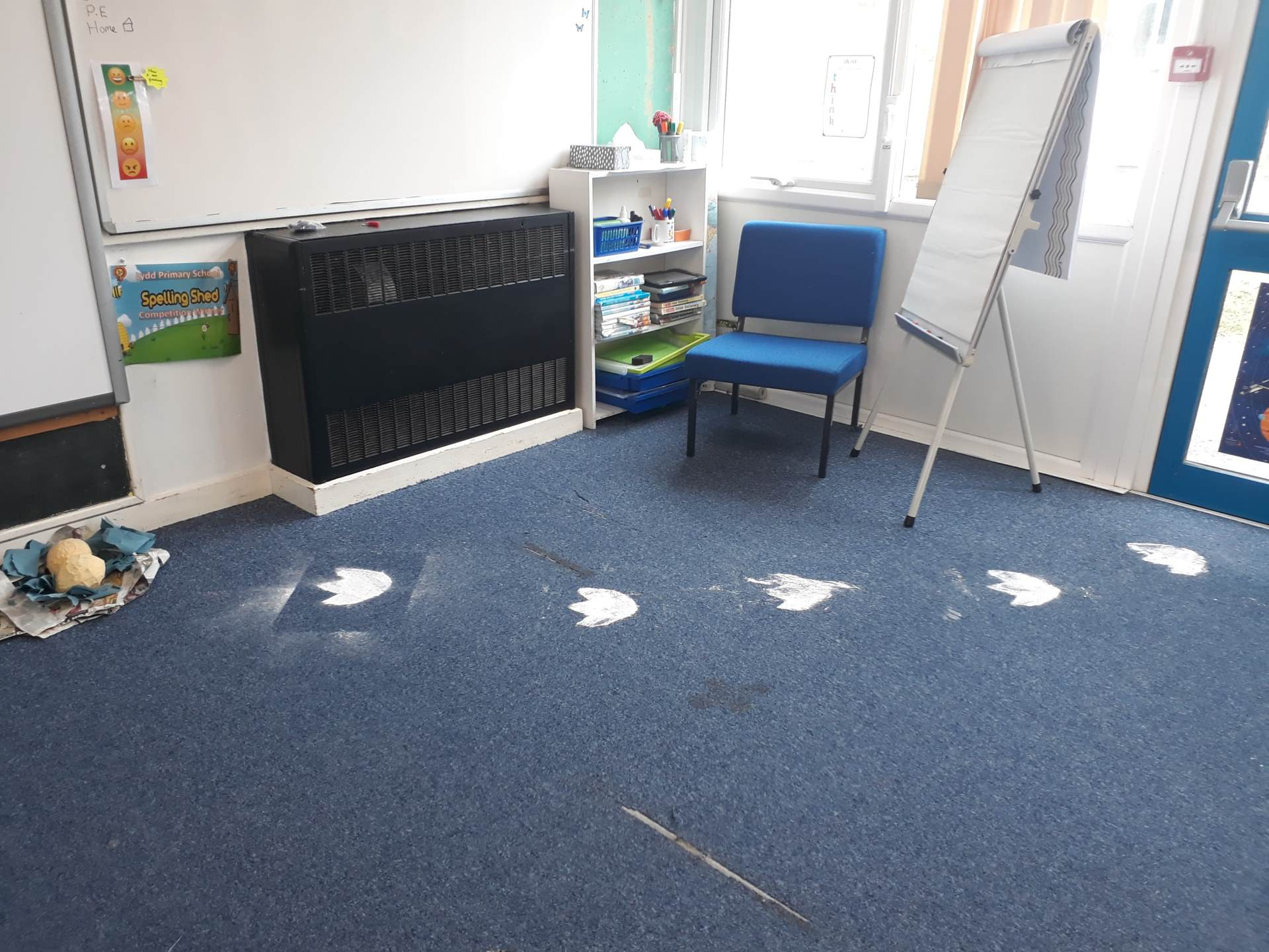 Something has been in Squirrel Class! We did a lot of investigating of the footprints and the nest with 2 eggs inside.